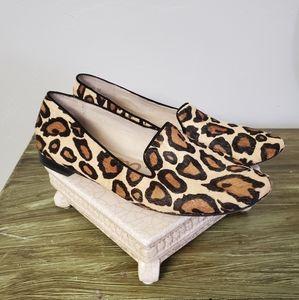 Sam Edelman Leopard Print Calf Hair Loafers